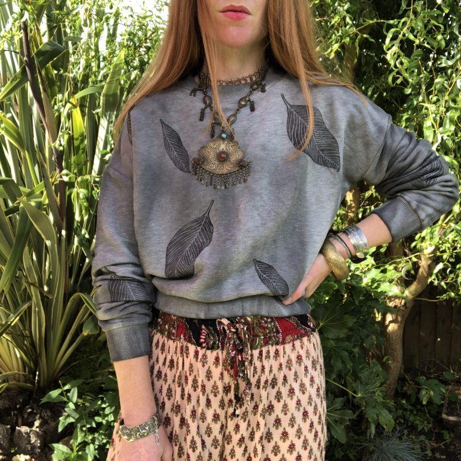 Cloud Forest - Boxy Fit Ethical Cotton Sweater