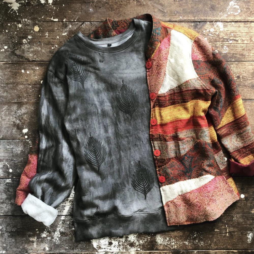 Leaf Skeleton - Flattering Loose Fit Ethical Cotton Sweatshirt