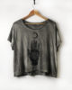 Nomad Silver- Boxy Fit Hand Dyed & Printed Ethical T-Shirt - Vegan PETA Approved
