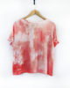 Psychedelic Moon - Dip Dyed & Hand Printed Flattering Boxy Fit T-Shirt