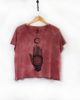 Nomad Red Earth - Boxy Fit Hand Dyed & Printed Ethical T-Shirt - Vegan PETA Approved