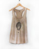Hand of Fire - Tea Dyed & Hand Printed Ethically Made Racer Back Tank