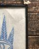 Seeker - Lino Cut Print Hand Printed Block Print - Framed in Vintage Style Glass Hanging Frame