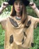 Cloud Forest - Ochre Boxy Fit Ethical Dip-Dyed & Hand Printed T-Shirt