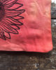 Solstice Seeker - Sunset Canvas Pouch Hand Dyed & Printed Sun Design Organic Cotton Bag