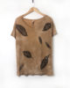 Ochre Cloud Forest - Loose Fit Ethically Made Hand Dyed & Block Printed T-Shirt