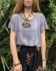 Black Stone Hand Dyed Boxy Fit T-Shirt - Ethically Made Fair Trade Loose Fit Bohemian Top